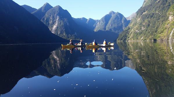 group kayaking Doubtful Sound