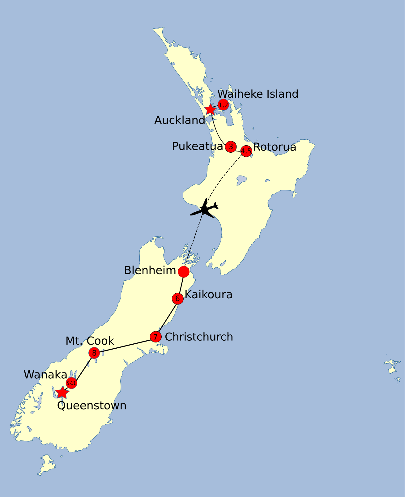 Rotorua New Zealand Map.Highlights And Hot Spots Tour New Zealand Awaits
