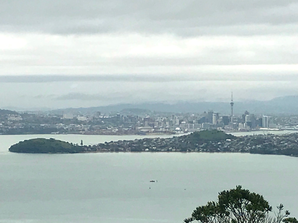 View from Rangitoto Island to Auckland City