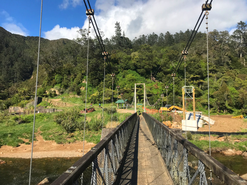Swing bridge at Karangahake Gorge