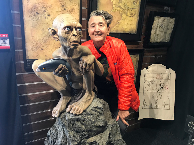 Mary at Weta Workshop with Gollum