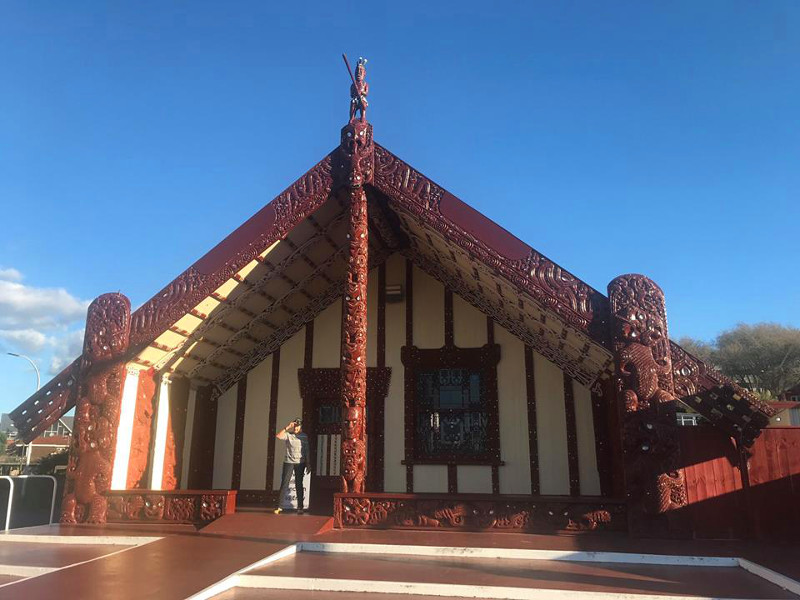 Mary at the marae meeting house