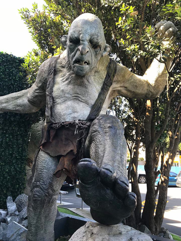 a troll outside at weta workshop