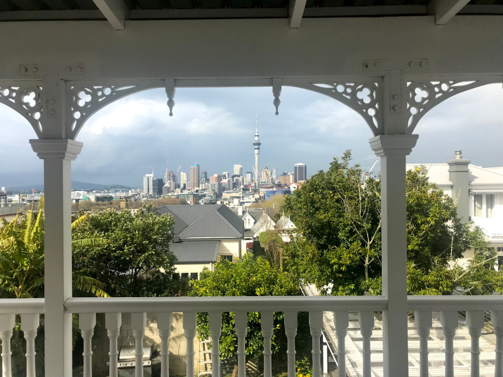 A view of Auckland City from villa room