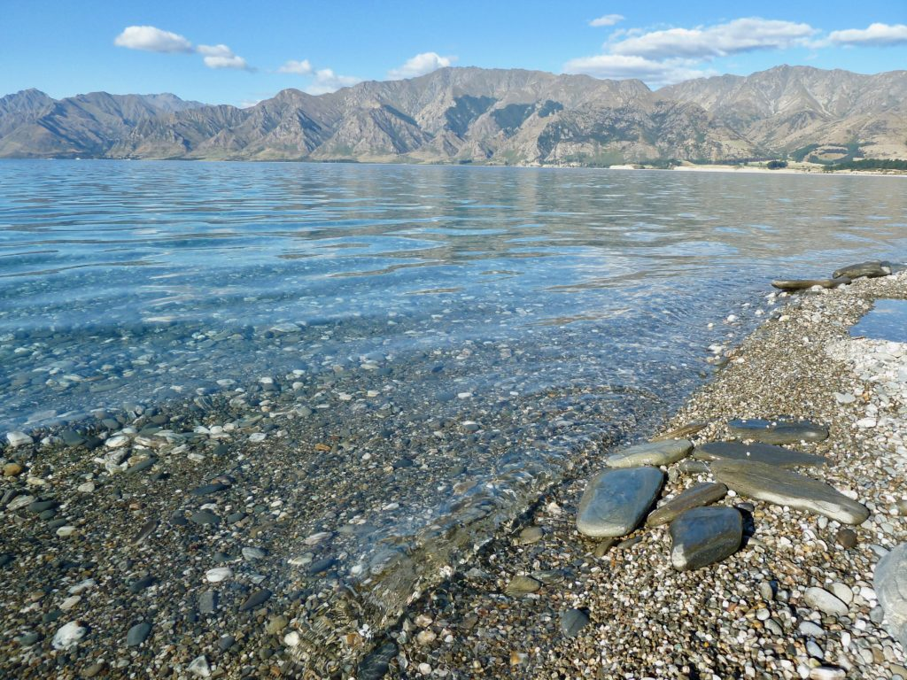 Lake Hawea clean clear water